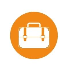 Portfolio suitcase travel business yellow circle vector
