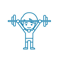 Powerlifting linear icon concept powerlifting vector