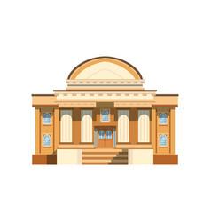 Public building facade theatre bank or shop vector