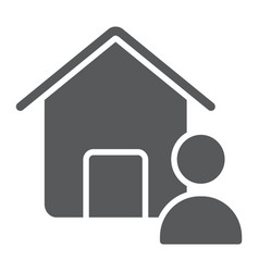 real estate agent glyph icon real estate and home vector image