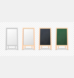 realistic menu announcement board icon set vector image