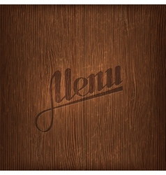 Restaurant menu design on wood background vector