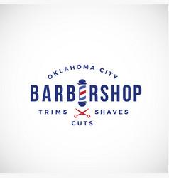 Retro barbershop abstract sign emblem vector