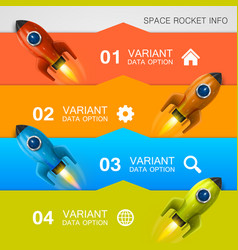 Rocket racing info art cover vector