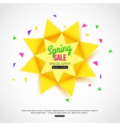 Sale background with paper sun Sale banner vector image