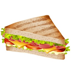 Sandwich with ham and cheese vector