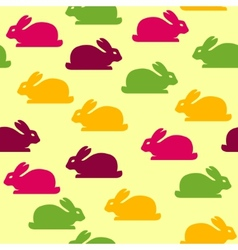 Seamless background with funny bunnies vector image