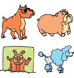 Set of cartoon funny dogs cartoon vector image