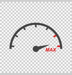speedometer tachometer flat icon vector image
