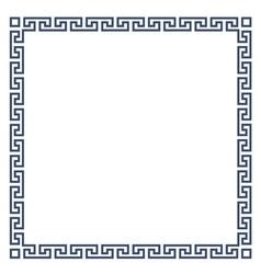 Square decorative Greek frame for design vector