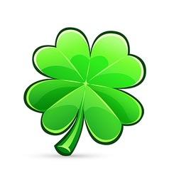 St patricks day four leaf clover vector