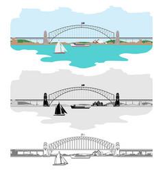 Sydney harbour bridge and others australian vector