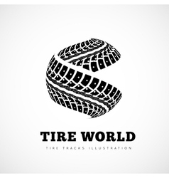 Tire Track brand vector image