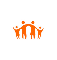 Together family parent and children logo icon vector