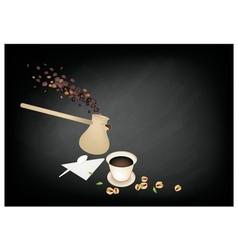 Turkish Coffee Popular Beverage in Turkey vector image