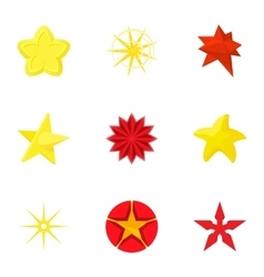 Types of stars icons set cartoon style vector image