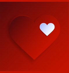 valentine day abstract background with two cut vector image