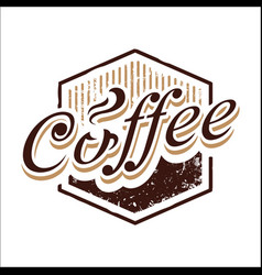 Vintage coffee polygon image vector