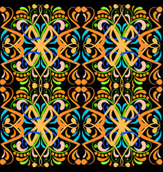 vintage colorful paisley seamless pattern vector image