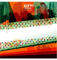 abstract city design banner vector image