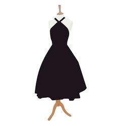 Black dress vector image