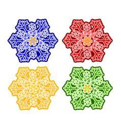 Christmas trimmings snowflake faience vintage vector image vector image