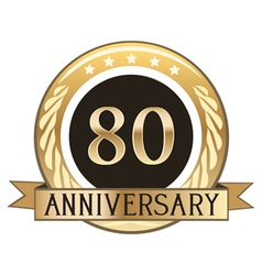 Eighty Year Anniversary Badge vector image