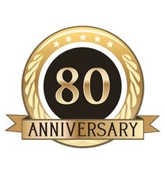 Eighty Year Anniversary Badge vector image vector image