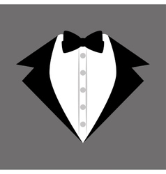 groom suit bowtie wedding icon design graphic vector image