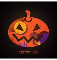 Halloween Party Pumpkin vector image