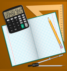 on the theme of school vector image vector image