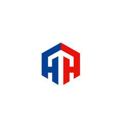 polygon arrow up logo vector image
