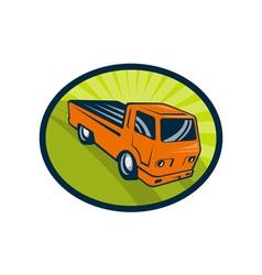 Vintage pick-up cargo truck vector image vector image
