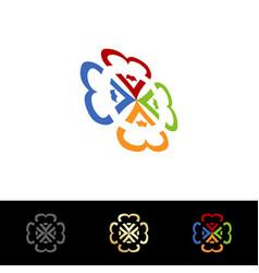education logo design vector image