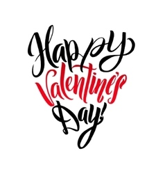 Happy Valentines Day Lettering Greeting Card Heart vector image vector image