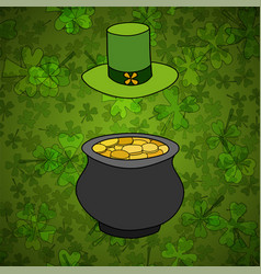 saint patrick day background vector image
