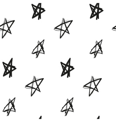 Stars painted imitation of ink on a white vector