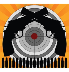 target and pistols vector image