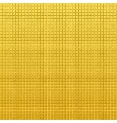 Vintage golden pattern of squares vector image vector image