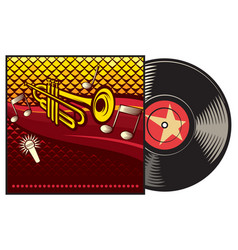 vinyl record with cover vector image vector image