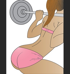 Womens weightlifting vector image