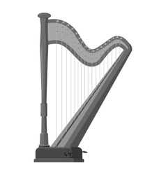 Harp icon gray monochrome style vector image