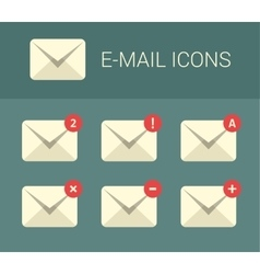 Mail design elements for website vector image