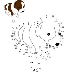 Puppy dot2dot vector image vector image