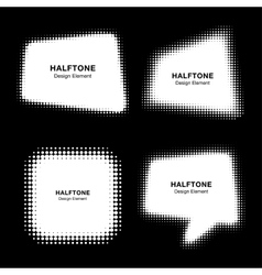Set of Abstract Halftone Design Elements vector image