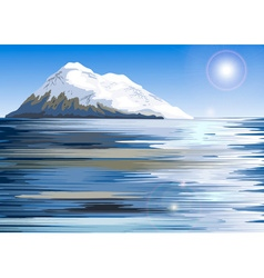 Snowy Mountain Painting vector image vector image