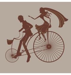 Wedding bicycle vector image