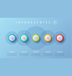 5 options infographic design presentation vector image