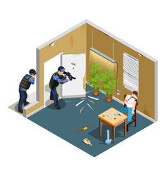 drug addict isometric composition vector image