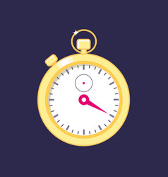 electronic digital gold stopwatch vector image